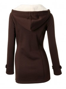 Classic Hooded Mid-Length Women Outwears Overcoat