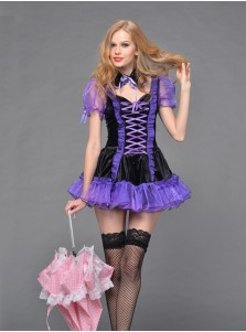 Sexy Mini Purple Cosplay Costumes