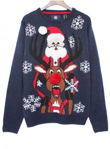 Casual Deer Santa Claus Sweater Pullover For Women