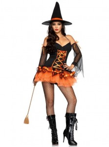 Sexy Mini Halloween Witch Cotumes