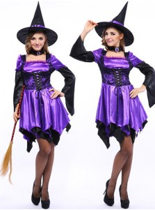 California Women's Witch Costumes with Cap