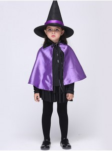 Kid's Purple Witch Costumes for Halloween