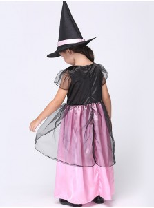 Lovely Kid's Pink Witch Costumes