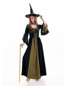 Halloween Women Long Witch Costumes
