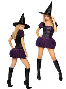 Sexy Purple Women's Witch Costume