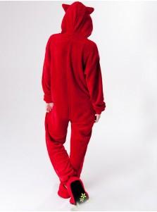 Ali Cute Red Flannel One-pieces Women Pajamas Animal Cosplay Sleepwear