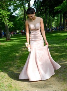 Elegant Sweetheart Pink Mermaid Formal Evening Dresses Prom Gown