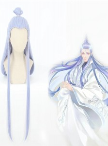 Hot NE ZHA Movie Princess Aobing Light Blue Cosplay Styled Wig