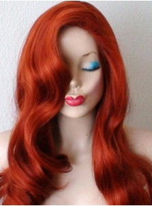 Jessica Rabbit Cosplay Wigs Red Halloween Party Parrucca Costume