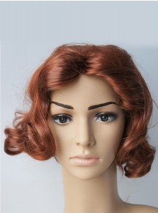 Marvel Avengers Endgame Black Widow Natasha Romanoff Brown Cosplay Wig