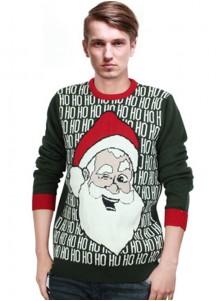 Men's One-size Hunter Long Sleeves Santa Christmas Sweaters