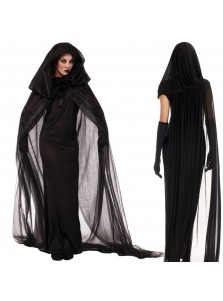 Women's Black Witch Costume for Halloween