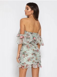 Short Off the Shoulder Floral Summer Dress
