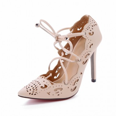 Women's Ultra-High Heel Black/Apricot Prom Shoes
