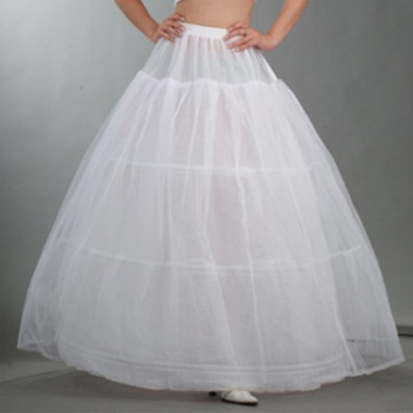 Wedding Bridal Long White Tulle Petticoat/Underskirt