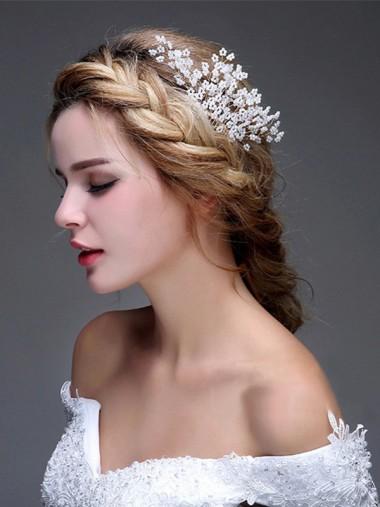 Ladies Nice Alloy Imitation Pearls Combs & Barrettes