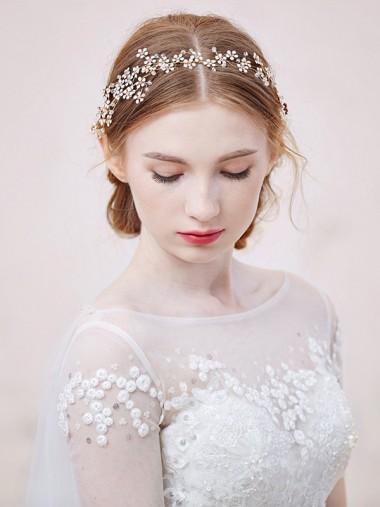 Ladies Unique Crystal Alloy Headpieces