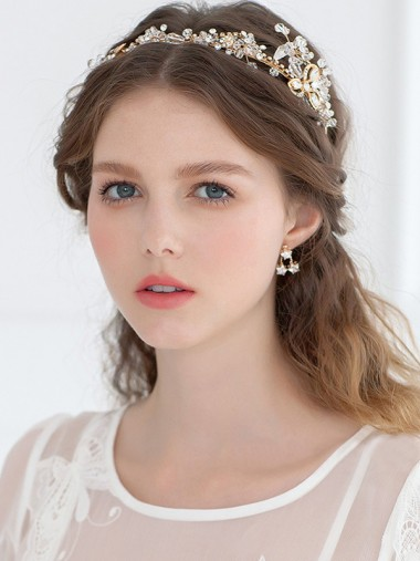 Pretty Alloy Tiaras with Crystal and Rhinestone