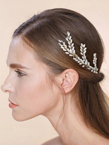 Ladies Classic Imitation Pearls Hairpins (Set of 3)