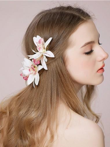 Ladies Romantic Artificial Flowers Hairpins (Set of 2)