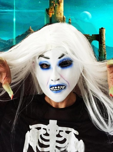 Halloween White Long Wigs Cosplay Horror