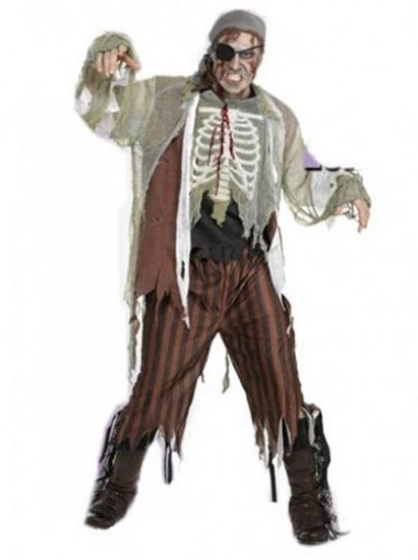 Pirates Of the Caribbean Cosplay Pirate Zombie Costume