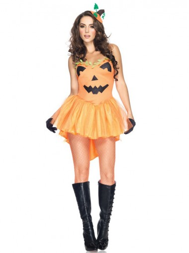 Halloween Sexy Pumpkin Printed Costumes