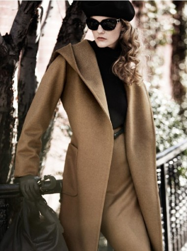 Loose Woolen Long Women's Overcoat With Ribbon