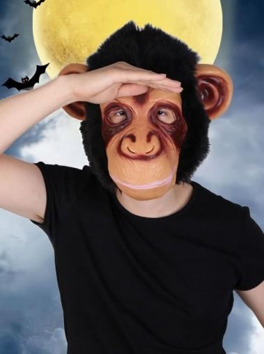 Funny Halloween Party Silicone Big Mouth Monkey Orangutan Mask