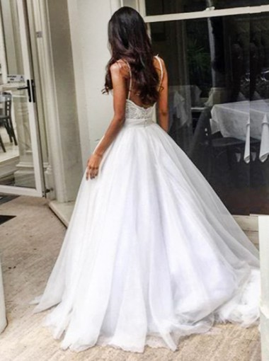Buy elegant sweep train backless wedding dress with lace for Backless wedding dress bra