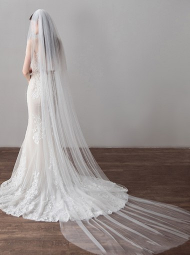 Two-tier Cut Edge 3m Cathedral Bridal Veils