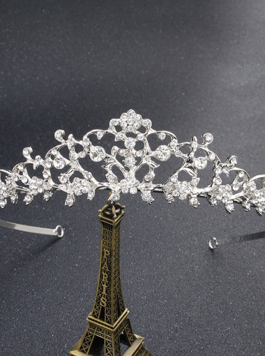 Ladies Luxury Alloy Tiara With Crystal