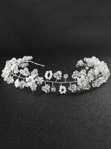 Silver Bridal Headpieces Beautiful Wedding Accessory with Crystal