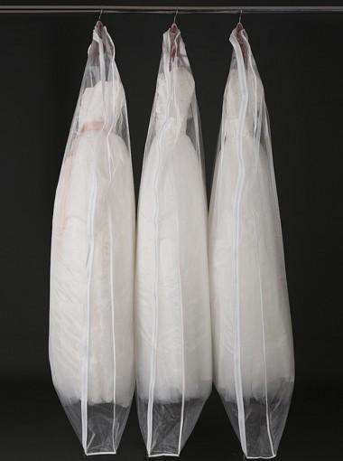180cm Plastic Side Zip Clear Garment Bags
