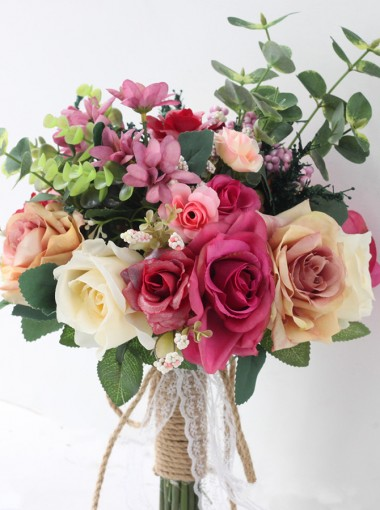 Linen Rope Free-Form Bridal Bouquets/Bridesmaid Bouquets