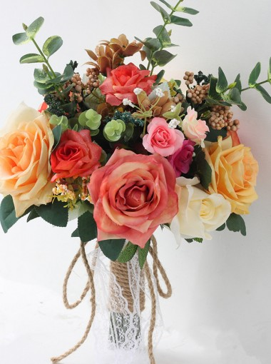 Free-Form Multi-Color Bridal Bouquets/Bridesmaid Bouquets
