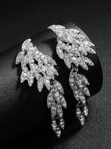 Beautiful Angel Wings Dangle Bridal Earrings