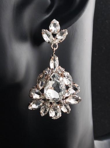 Nice Crystal Dangle Bridal Earrings for Women