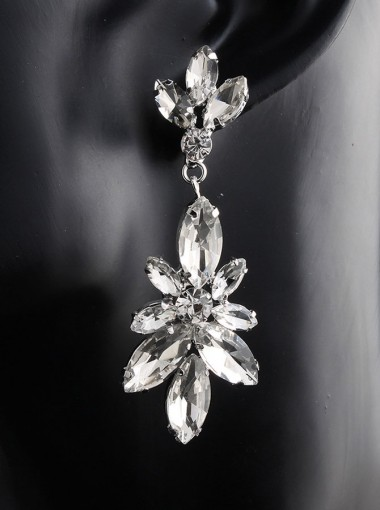 Luxury Crystal Drop Earrings Jewelry for Bridal
