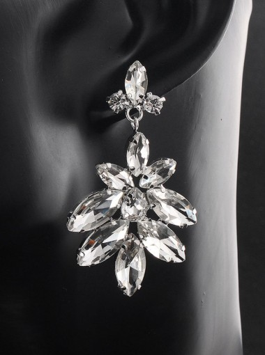 Luxury Chandelier Crystal Drop Earrings for Bridal