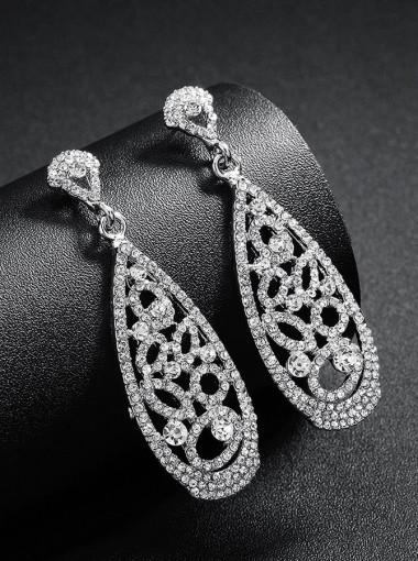 Nice Crystal Bridal Earrings Fashion Drop Earrings for Women