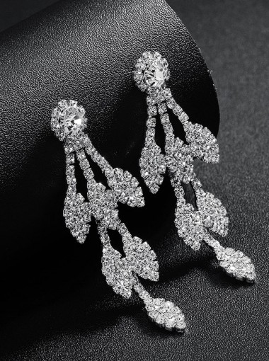Luxury Chandelier Earrings with Crystal