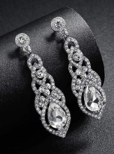 Fashion Luxury Dangle Bridal Earrings with Crystal