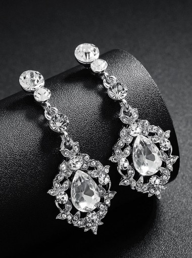 Luxury Drop Earring with Crystal for Bridal