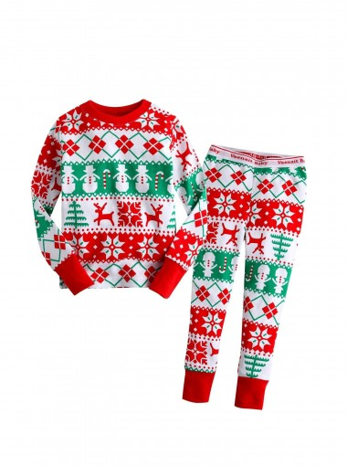 Red Deer kids' Christmas Pajamas Sets