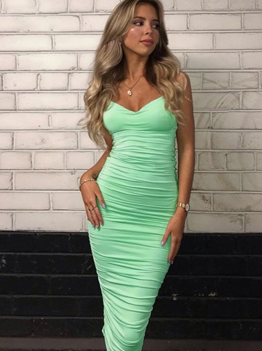 Green Tight Party Dress Sexy Women's Dresses