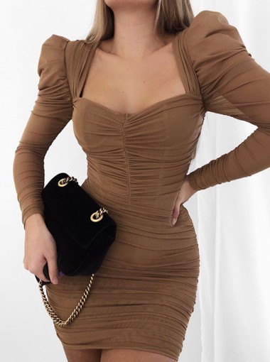 Sweetheart Party Dress with Long Sleeves
