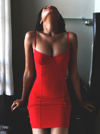 Sheath Spaghetti Straps Sleeveless Short Red Stretch Satin Homecoming Dress