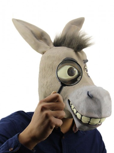 Ridiculous Funny Donkey Halloween Party Full Mask