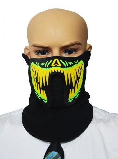 LED Mask Sound Reactive Halloween Party Mask